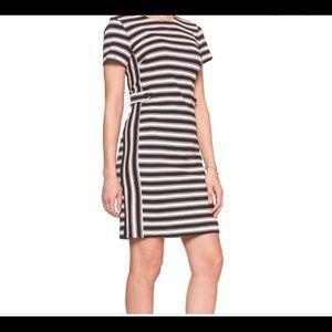 Beautifully striped dress from Banana Republic!